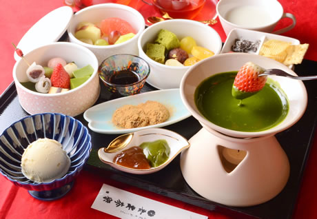 吾妻茶寮(あづまさりょう)のあまおう苺の抹茶フォンデュとは⁉限定スイーツ【キャッチ】
